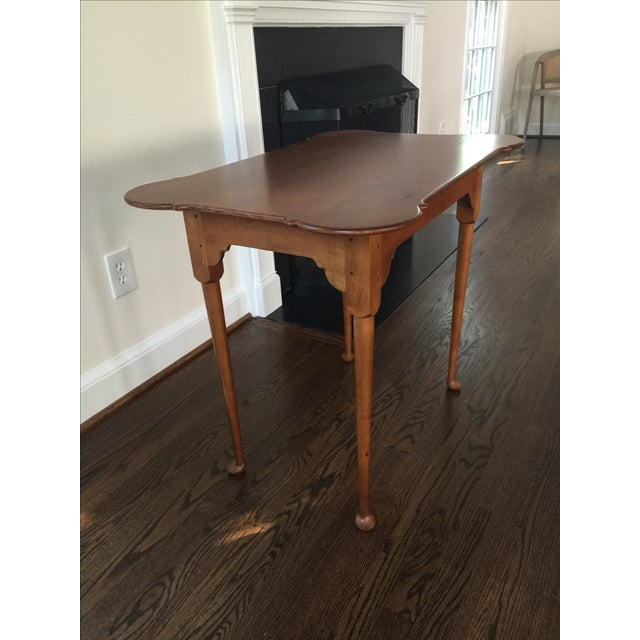 18th C. Antique Reproduction Wood Side Table - Image 3 of 4