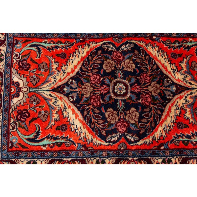 """Early 20th Century Antique Heriz Runner Rug, 2'8"""" X 11' For Sale - Image 5 of 8"""
