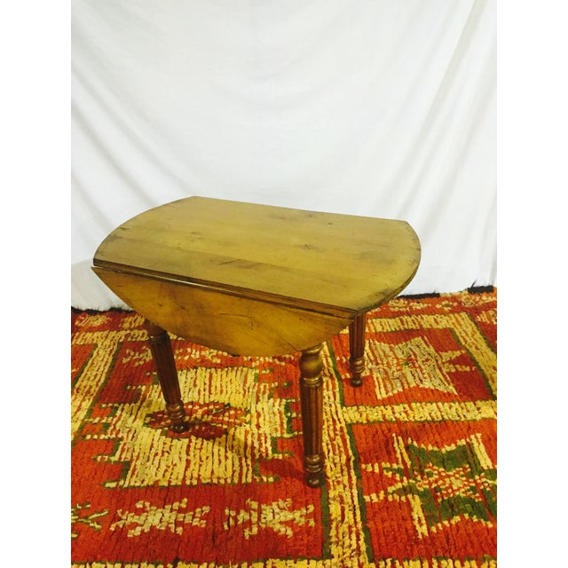 French Drop Leaf Cherry Table - Image 2 of 3