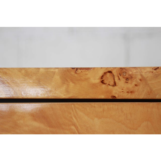 Leon Rosen for Pace Burled Olive Wood and Chrome Wardrobe Dresser - Image 12 of 13