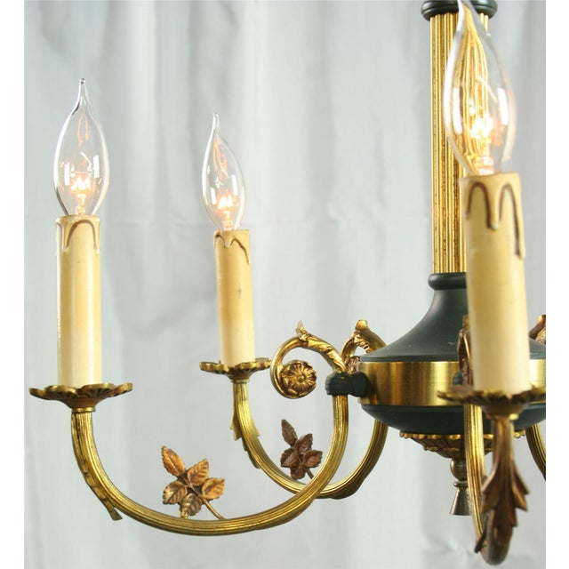 Vintage French Empire Chandelier Circa 1950 - Image 4 of 8