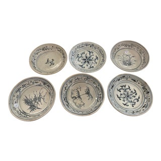 15th Century Vietnamese Plates Set of 6 Hoi an Hoard For Sale
