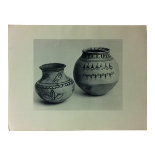 """Circa 1950 """"Early Tesuque Pottery"""" Indian Arts Fund Collection Print For Sale"""