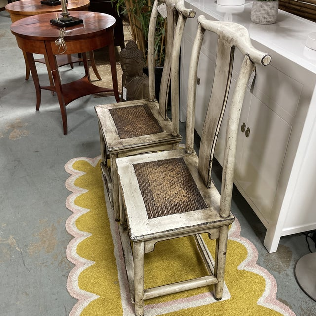 Late 20th Century Vintage Asian Emperor's Chairs - a Pair For Sale - Image 5 of 9