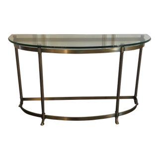 20th Century Hollywood Regency Demilune Console Table For Sale
