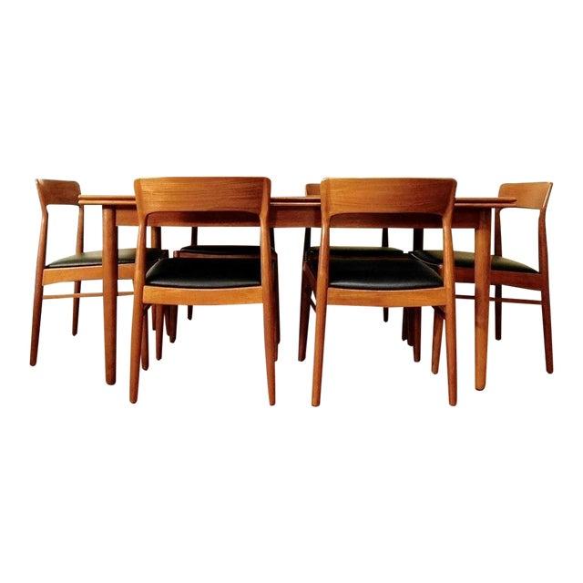 Danish Modern Kai Kristiansen Teak Dining Set Chairish