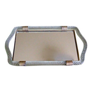 Venini Style Murano Twisted Rope Glass Vanity Tray For Sale