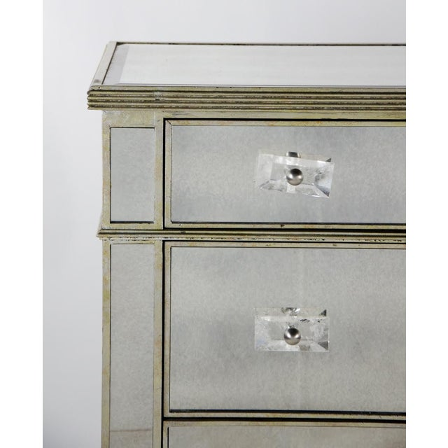 Late 20th Century 20th Century French 3-Drawer Mirrored Commode For Sale - Image 5 of 13