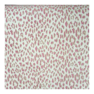 Pink & Green Animal Patterned Woven Fabric