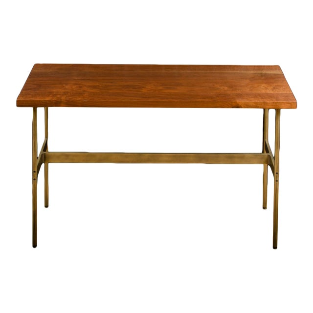 """Gratz Industries Contemporary """"Terenia"""" Walnut Top Console Table For Sale"""