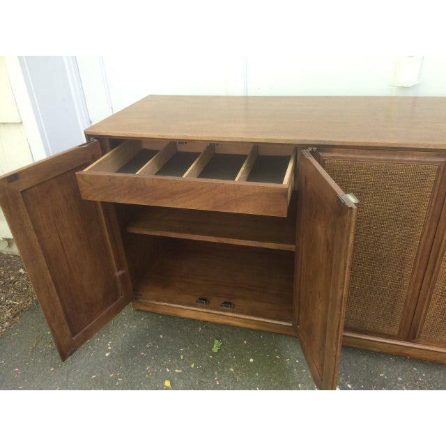 Founders Cane Paneled Credenza For Sale - Image 5 of 9