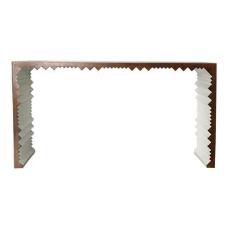 Noir Nelson Walnut Console Table For Sale