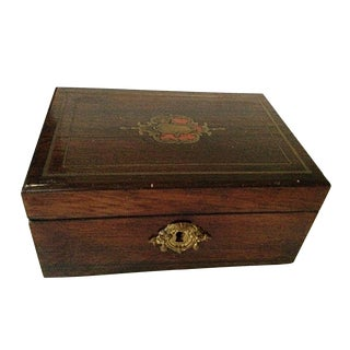 Inlaid Wood Box For Sale