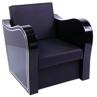 Black Art Deco Style Armchair