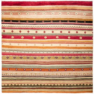 "Lori Hand Knotted Area Rug - 6'0"" X 6'1"" For Sale"