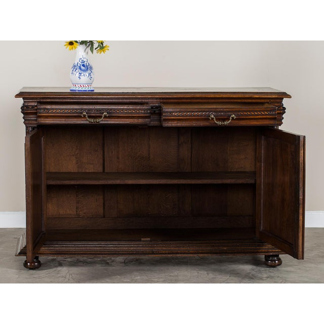 French Antique French Henri II Style Walnut Buffet circa 1875 For Sale - Image 3 of 11