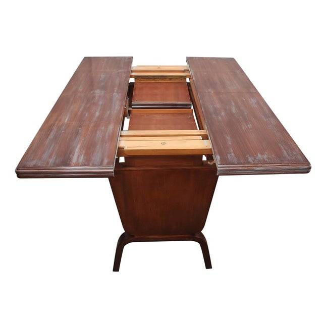 Mid 20th Century Danish Moderne Extending Game Table For Sale - Image 5 of 7