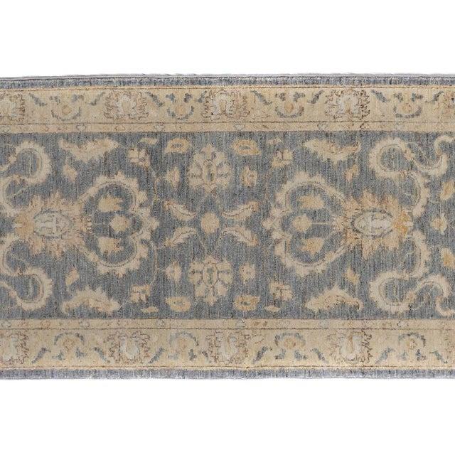 Kafkaz Peshawar Genaro Gray/Tan Wool Rug - 2'6 X 9'11 For Sale - Image 4 of 7