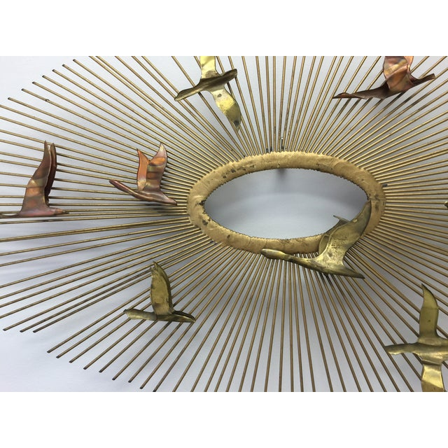 Curtis Jere Sunburst With Birds Wall Sculpture - Image 6 of 8