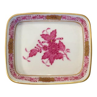 1970s Herend Chinese Bouquet Trinket Tray For Sale