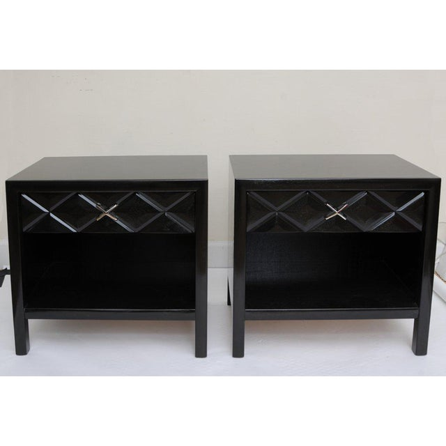 Mid-Century Modern Mid-Century Modern Signed John Widdicomb Night Stands/End Tables - a Pair For Sale - Image 3 of 11