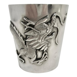 Sterling Silver Chinese Drinking Cup For Sale