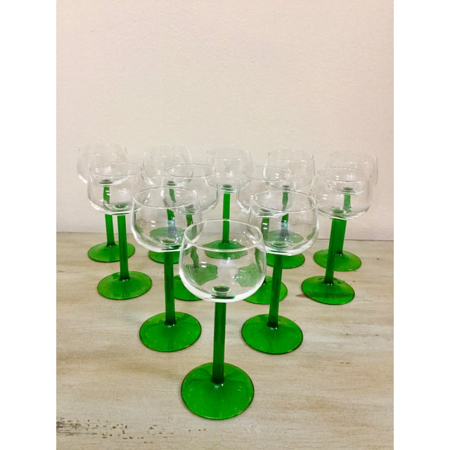 Mid-Century Modern 1960s Mid Century Cristal d'Arques Glasses - Set of 12 For Sale - Image 3 of 10