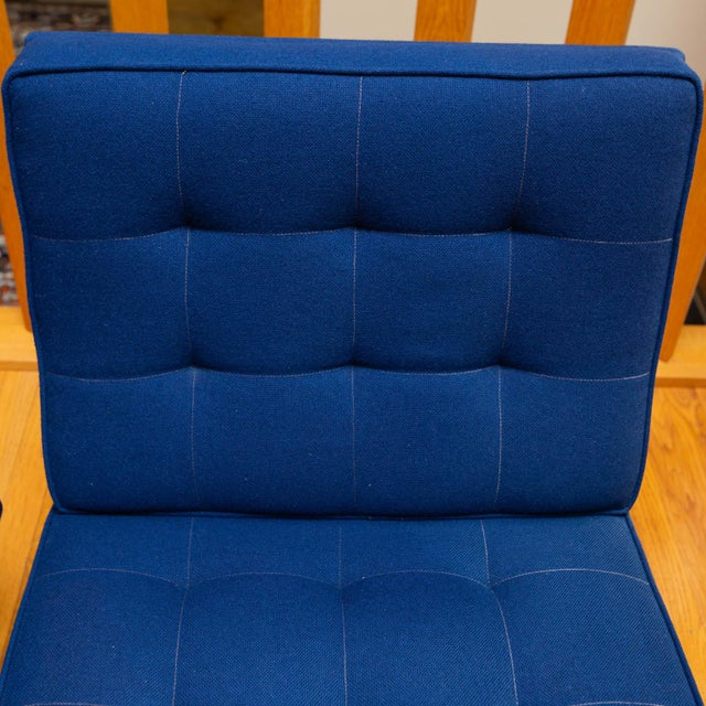 Pair of Florence Knoll Parallel Bar Slipper Chairs For Sale In New York - Image 6 of 8