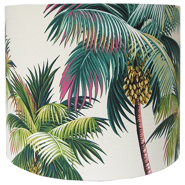 Contemporary Tropical Drum Lamp Shade For Sale - Image 3 of 4