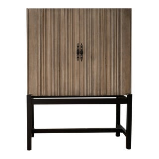 Monarca Cabinet on Ebony Base With 2 Adjustable Shelves For Sale