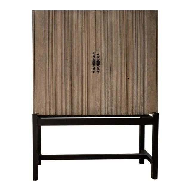 Monarca Cabinet on Ebony Base With 2 Adjustable Shelves For Sale