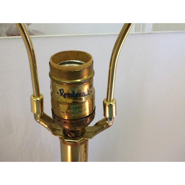 Vintage Rembrandt Art Deco Style Brass Lamps - Pair - Image 7 of 9