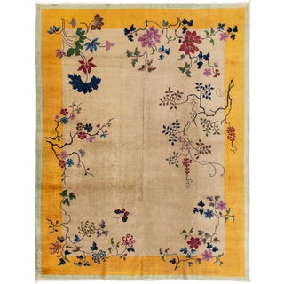 "Apadana-Antique Chinese Rug, 8'10"" X 11'6"" For Sale"