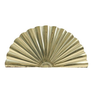 Curtis Jere Brass Fan Wall Sculpture For Sale