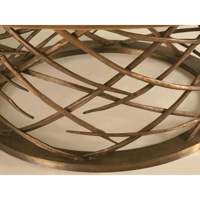 Custom-Made Woven Solid Bronze Table Base For Sale In Chicago - Image 6 of 11