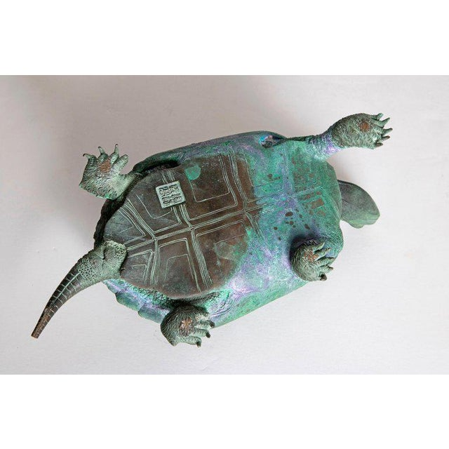 Late 19th Century Japanese Bronze Tortoise, Meiji Period For Sale - Image 11 of 13