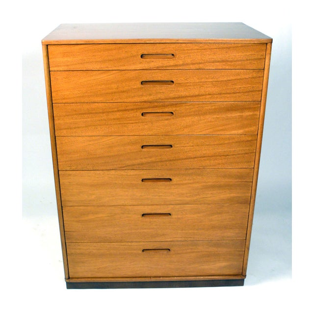 Modern Seven-Drawer Chest Designed by Edward Wormley for Dunbar For Sale - Image 3 of 11