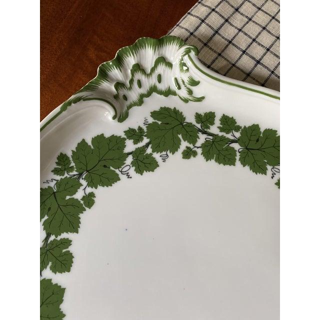 1950s Vintage 1950s Meissen Porcelain Grape Vine Scalloped Platter For Sale - Image 5 of 9