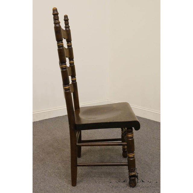 Wood 20th Century Traditional Ethan Allen Old Tavern Pine Ladder Back Dining Chair For Sale - Image 7 of 9