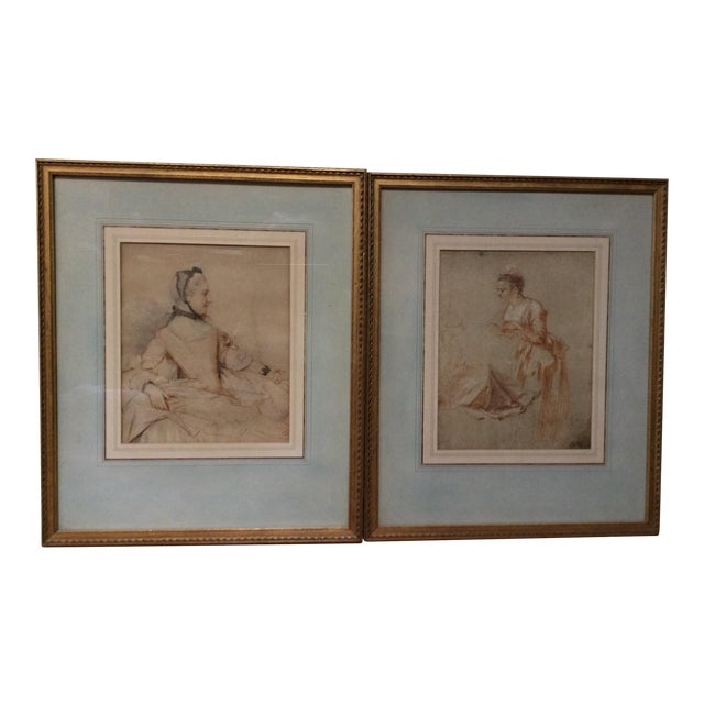Decorative Prints of Old Master Drawings - A Pair - Image 1 of 8