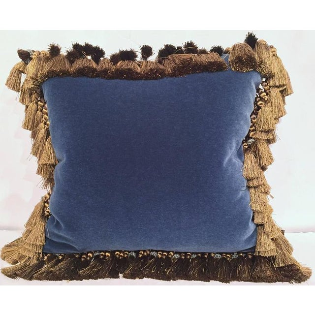 Decorate a bed or couch in the living room with this custom blue velvet pillow. The pillow is made from scratch using an...