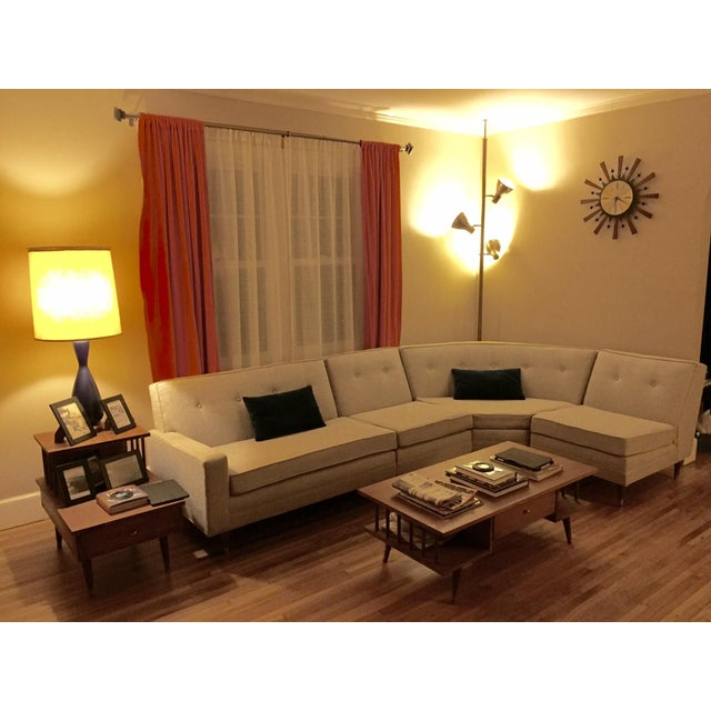 Vintage Mid-Century Sectional Sofa - Image 5 of 9