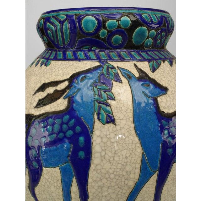 Art Deco Art Deco (Belgian) Crackled Earthenware Vase For Sale - Image 3 of 6