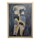 """Image of """"The Thinker"""" Abstract Oil Painting by Miguel Castro Lenero For Sale"""