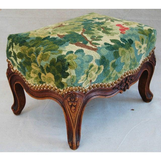 Vintage Italian Scalamandre Fabric Footstool - Image 10 of 10