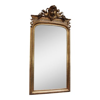 French Federal Gold Gilt Mirror