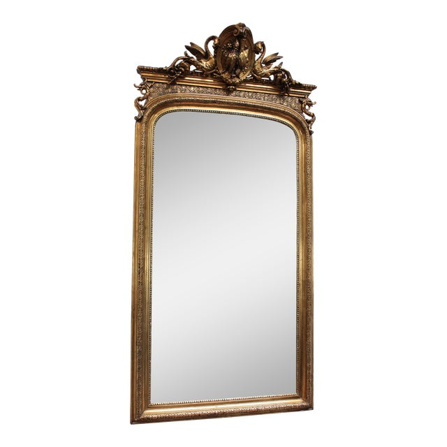 French Federal Gold Gilt Mirror For Sale