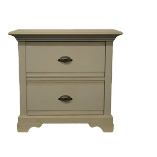 """20th Century Lane Furniture Contemporary Modern White Painted 30"""" Two Drawer Nightstand For Sale"""