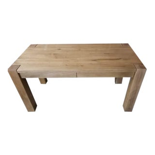 Restoration Hardware Reclaimed Russian Oak Desk in Natural Oak For Sale