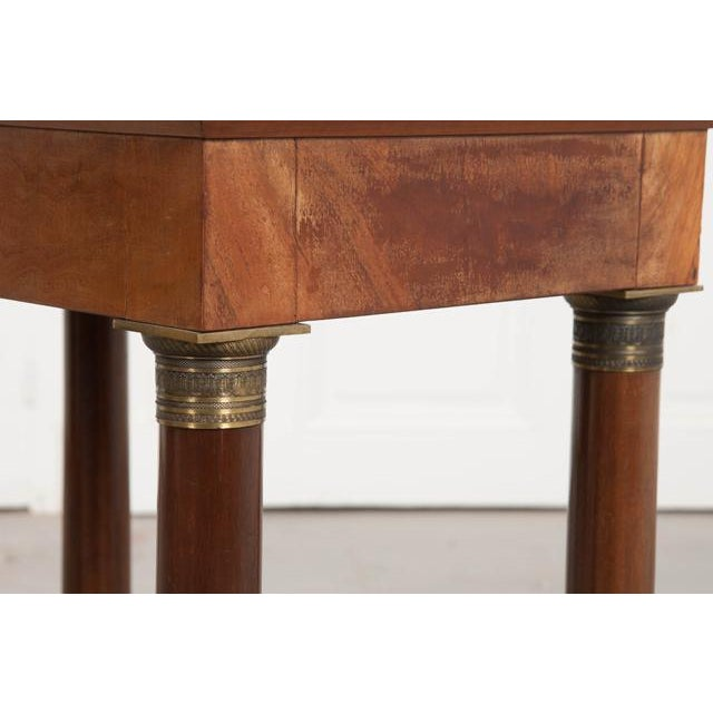 Early 20th Century French Empire Mahogany Marble Top Table For Sale - Image 9 of 13